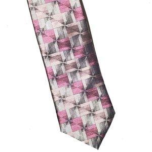 ARROW Men's 100% Silk Necktie Abstract NWT